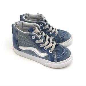 Vans SK8- Hi Zip Chambray Sneakers